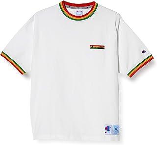Champion T恤 短袖 棉* 线条罗纹 宽松版型 非洲颜色 街头 字母标识刺绣 带有慢跑标签的短袖T恤 C3-T325 男士
