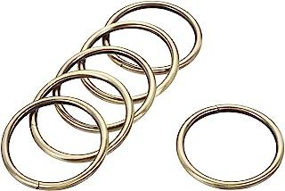 uxcell 金属 O 形环 48 毫米(1.89 英寸)ID 4.8 毫米厚铁环用于五金DIY配件青铜色 10 件