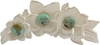 Caravan 法国 LG 珍珠花发爪,饰有绿松石珠装饰