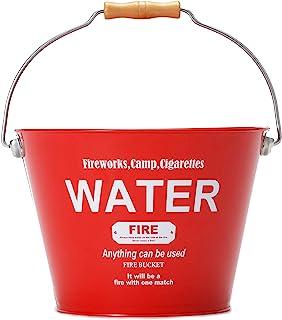 Sanka 防火架 红色 8.5L 水桶 灭火 垃圾箱 集尘箱 清扫工具 园艺 户外