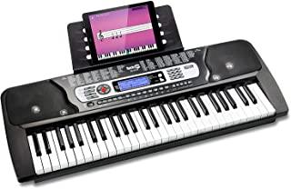 RockJam 54键键盘钢琴带钢琴音符贴纸电源乐谱架和简单的钢琴应用