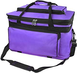 大容量艺术用品收纳袋带肩带,防水艺术工艺绘图用品收纳手提袋便携式旅行手工袋,手工艺品,缝纫,纸张,艺术,书桌,帆布