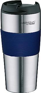 THERMOS 膳魔师 ThermoPro随身咖啡厅系列 保温杯 亚光不锈钢 4056.256.040,0.4L,不含BPA,蓝色