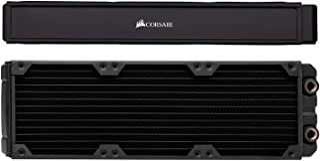 CORSIAR 美商海盗船 Hydro X 系列,XR7 360 毫米水冷散热器(三个 120 毫米风扇安装,易于安装,优质铜结构,高品质聚氨酯,集成风扇螺丝导轨),黑色
