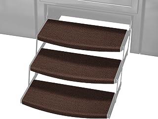 Prest-O-Fit 3 件装 2-4111 Outrigger Radius XT RV 阶梯地毯巧克力棕色 55.88 cm。 宽