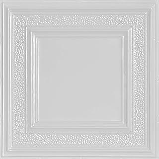 Shanko SKPC509-wh-24x24-N-12 县软木冲压金属钉天花板瓷砖(48 平方英尺),白色