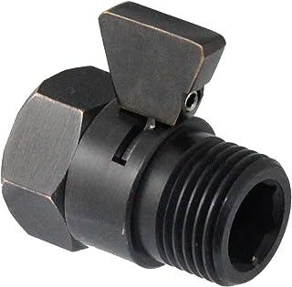 MODONA 节水流量控制和关闭阀门,由纯色黄铜制成,手柄适用于手持花洒、淋浴头和面喷雾器 - 5 年保修_抛光青铜色 VC01-A-B