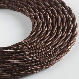 BELLE ÉPOQUE 编织纺织电缆复古电气安装 3 x 1 mm 10 m 棕色