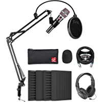 sE Electronics V7 Supercardioid 动态麦克风,适用于声乐和乐器,带 Blucoil 4 x…