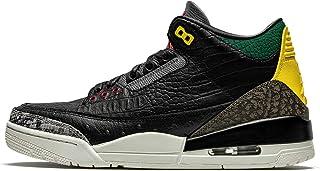 Jordan 中性款 3 复古 SE 皮革合成黑色白色峡谷*运动鞋
