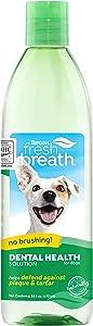Tropiclean 清新口腔去除剂宠物水添加剂 33.8 盎司 绿色 16盎司