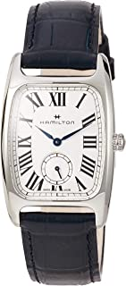 Hamilton Boulton L 银-白色表盘女士皮革手表 H13421611