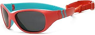 Real 儿童墨镜冒险太阳镜适用于婴儿幼儿儿童–100% UVA UVB 保护聚碳酸酯镜片结实耐用包裹式框架