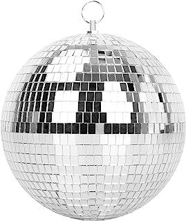 迪斯科派对婚礼家居装饰镜球,MUZNOTE 8 英寸迪斯科球,带挂环