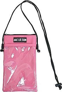 ZIP CORPORATION 颈部袋 智能手机袋 放在身边 操作 带透明袋 粉色