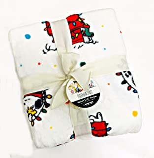 Peanuts Gang 史努比和查理布朗圣诞节假日毛绒毯,Berkshire Home & Blanket Co.   55 x 70 英寸