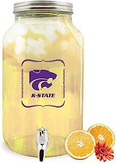 Duck House NCAA 堪萨斯州野生猫玻璃饮料分配器/太阳茶罐,5 升
