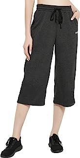 DEMOZU 女式 48.26 厘米靴型瑜伽七分裤 活力休闲慢跑裤 棉质锻炼喇叭裤 带口袋