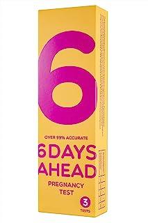 提前 6 天验孕 - 3 次验孕测试(10mIU/ml) - 早期检测:在您*期前的 6 天早 - 预期期间的准确性超过 99% - 一步HCG 尿液测试