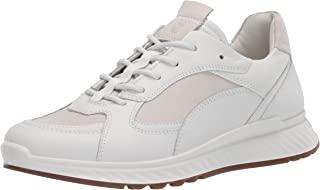 ECCO 爱步 Women's Soft 7 柔酷7号女鞋系列 女士多孔系带运动鞋,White/Ice White,7-7.5