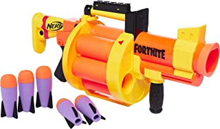 NERF 热火 Fortnite GL 火箭发射冲击波 – 6 -火箭弹鼓,泵式发射 – 包括6 个官方 Nerf 火箭子弹 – 适合青少年、成人