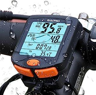 RISEPRO 自行车计算机,无线自行车速度计自行车里程表自行车多功能防水4线显示器带背光YT-813