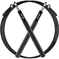 美国 JEFlex 专业跳绳 室内健身 可调节 轴承跳绳 (黑色) - JF0004