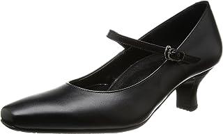 [ 华歌尔 Success Walk ] 方头浅口鞋高跟5cm 双围 E ~ EE 牛皮 wfn051