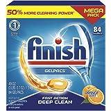 P&G 宝洁 Finish Gelpacs 多合一洗涤胶囊,多功能清洁剂,香橙味,84块,1.3千克
