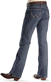 "Wrangler 女式牛仔风中腰""现金""终极骑行牛仔裤 American Spirit 9/10x36"