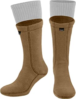 281Z 徒步保暖 8 英寸靴子衬袜 - 军事战术户外运动 - Polartec 抓绒冬季袜(郊狼棕色)