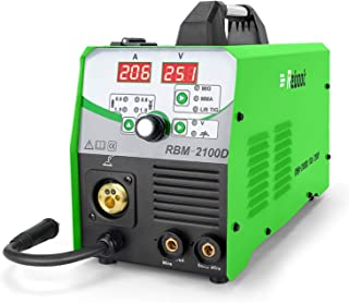 MIG 焊机通量芯线自动进料210 AMP 110V/220V MIG210 升降Tig 电弧棒混合焊接机实心线气体/无气体可用 1KG/5KG 电线