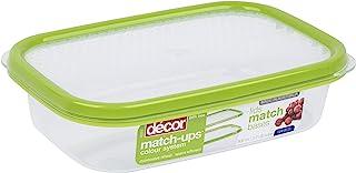 Décor Match-ups Basics Oblong | 食品储存储藏盒 | 非常适合用餐 | 不含 BPA | 洗碗机、冷冻和微波炉*,透明 / *,800 毫升