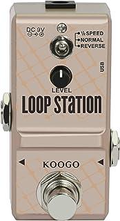 Koogo 吉他环踏板小环站踏板 适用于电子乐器环路 10 分钟 3 种模式