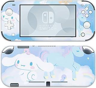 BelugaDesign 肉桂罗 Nintendo Switch Lite Skin - 粉彩贴纸包装乙烯基贴花 - 凯蒂猫蓝色小狗独角兽