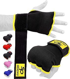 Starpro 拳击手绷带内手套 - 手腕支撑、拳击保护装置 | 泰拳拳、跆拳道、MMA、锻炼、训练、打拳 | 男式和女式弹性加厚手套 |
