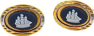 Wedgwood 正品金色和银色茉莉花器袖扣高筒船