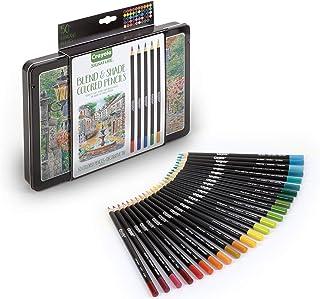Crayola 绘儿乐 Signature Blend & Shade 软芯彩色铅笔,锡盒礼盒,50 支