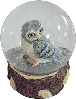 HOSNNER 猫头鹰水晶雪球 - 装饰卧室客厅派对办公室装饰婴儿生日灰色