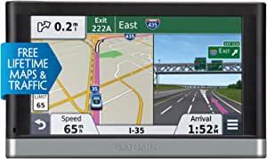 Garmin nüvi 5 英寸便携式汽车 GPS010-01123-30  带终身免费地图,交通路况和蓝牙 6.20in. x 4.30in. x 2.80in. 黑色