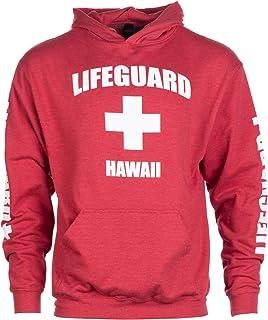 夏威夷救生队 | 红色莫伊·洪鲁连帽运动衫连帽运动衫 男式女式