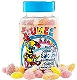 Mr. Tumee 钙 + 维生素 D Gumee,草莓/柠檬/橙子/葡萄/樱桃/葡萄柚,60 粒