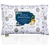 带枕套的幼儿枕头 - 13X18 柔软*棉婴儿睡觉枕头 - 可机洗 - 幼儿、儿童、婴儿 - 非常适合旅行、幼儿床和床套…