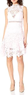 Bardot 女式高蕾丝领口修身廓形派对礼服
