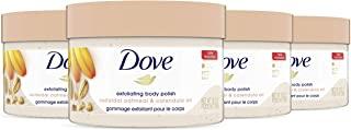 Dove 多芬 皮肤磨砂膏,燕麦和金盏花油身体磨砂膏,去角质,提供持久滋养,10.5 盎司(298克),4 件装