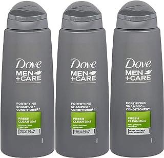 Dove 多芬 男士 + 护理 二合一洗发水 + 护发素 清新香味 - 3包 x 13.5盎司/400毫升(国际版)