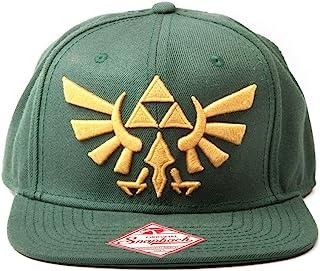Zelda 任天堂 后扣帽 带金色Triforce 标志(绿色) Gold Triforce 标志 Standard 绿色