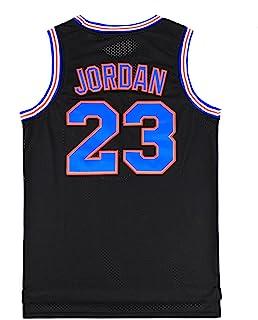 青年太空电影 23 篮球运动衫 90 年代嘻哈派对服装篮球衬衫儿童白色/黑色/红色 S-XXL 码