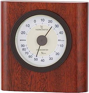 EMPEX 气象计 温度湿度计 酵母温湿度计 放置用 日本制造 棕色 TM-646