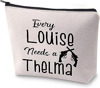 ZJXHPO 有趣的*好的朋友礼物 每个路易丝都需要一个 Thelma 化妆包 Thelma 和 Louise 拉链袋 公路旅行礼物, Needs a Thelma, 23.5*17 cm,